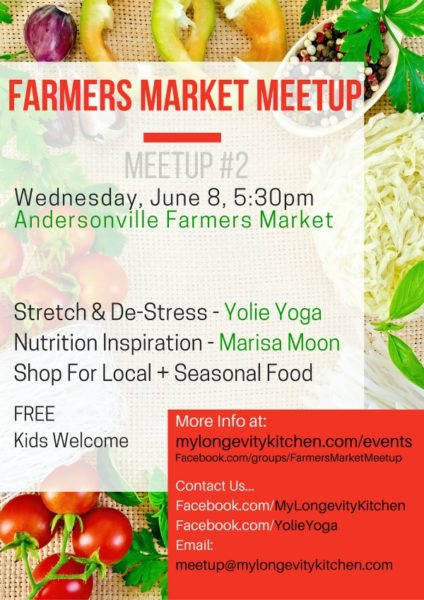Farmers Market Meetup Chicago with Yolie Yoga and My Longevity Kitchen