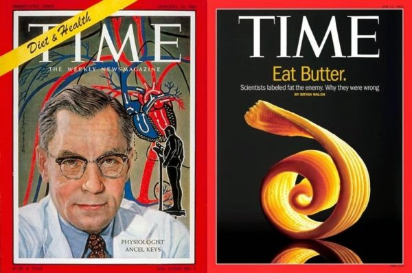 Time Magazine Announces Ancel Keys Led Americans in the Wrong Direction. Photo Credit: Health Longevity Blog