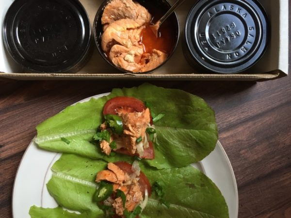 Vital Choice Seafood Salmon, lettuce wraps by My Longevity Kitchen
